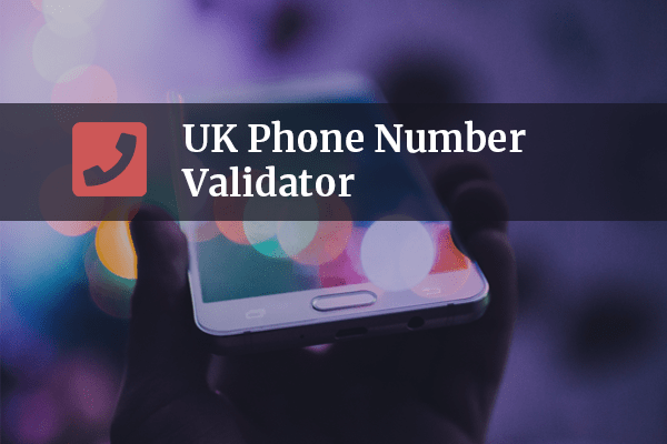 UK Phone Number Validator